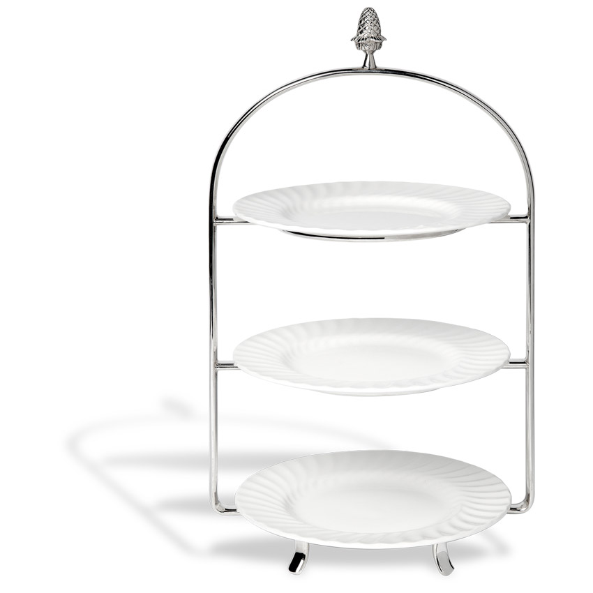 Three tier s/steel stand incl. plates $9.50