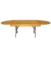 Round end banquet tables, 1.2mts wide, various sizes available
