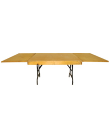 Square end banquet tables, 1.2mts wide, various sizes available