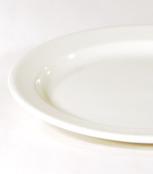 """Oval Entree Plate With Rim 9.5"""" $0.60"""