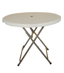 Plastic Outdoor Round Table 900mm $16.00