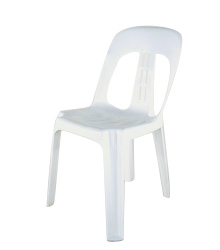 White Plastic Moulded No Arms $3.95